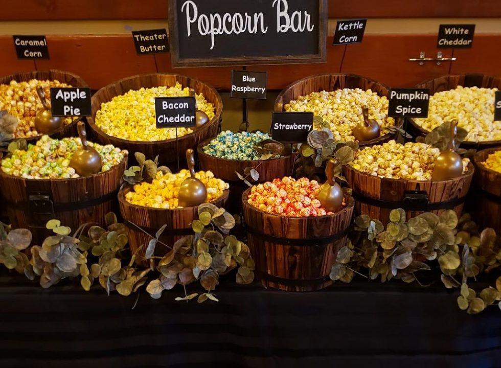 sweet buffet lady popcorn bar and event rentals at pemberton farm